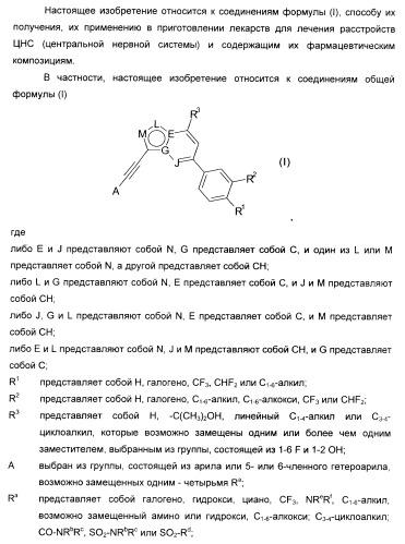Производные ацетиленил-пиразоло-пиримидина в качестве антагонистов mglur2