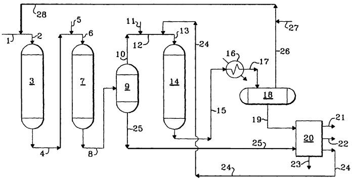 Комбинированный способ производства сверхнизкосернистого дизельного топлива и низкосернистого котельного топлива
