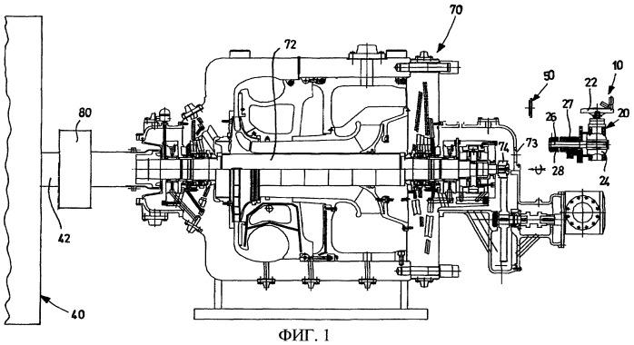 Система перемещения для осмотра турбины и агрегат компрессора и турбины
