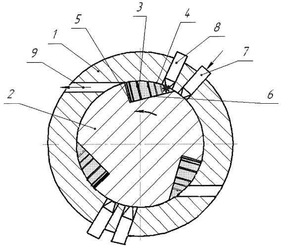 Рабочий процесс роторного двигателя по способу арутюнова и конструкция роторного двигателя арутюнова