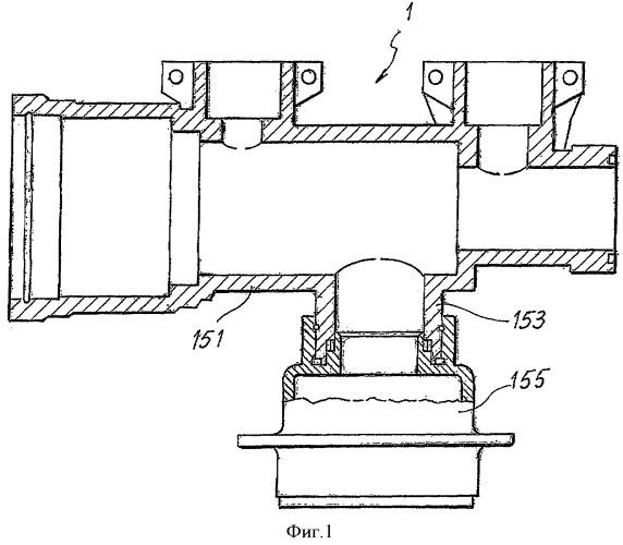 Система взаимной блокировки механических элементов, образующих герметизированную камеру
