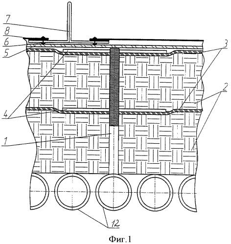 Обмуровка теплового агрегата (варианты)