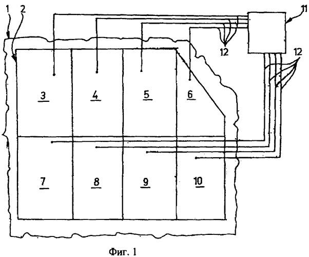 Система для обнаружения дефектов в покрытии стенки и способ изготовления такой системы