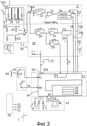 Устройство и установка для измерения и отображения излучения