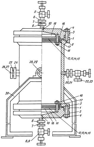 Фильтр закрытый двухстороннего действия при высоких параметрах давления и температуры