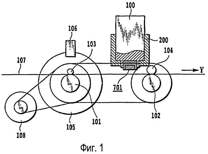 Печатающее устройство и способ управления перемещением объектов