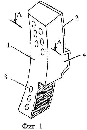 Секционная биметаллическая тормозная колодка