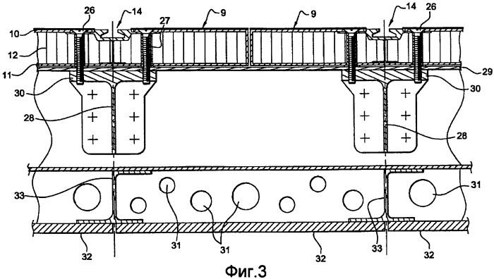 Панель пола и устройство для крепления элементов оборудования, содержащее такие панели