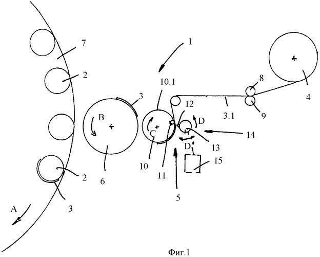 Режущий механизм для этикетировочного агрегата, а также этикетировочный агрегат с режущим механизмом