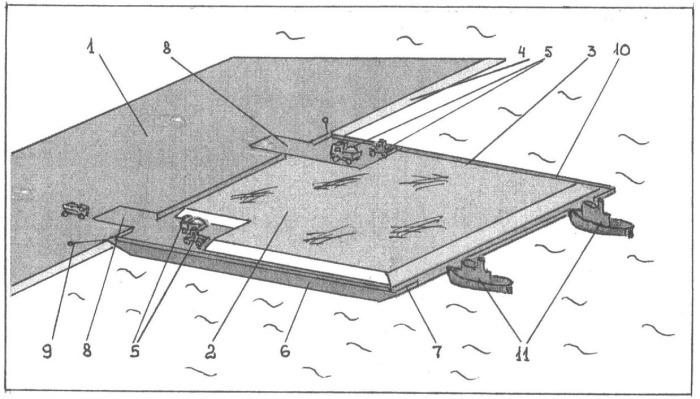 """Плавкомплекс """"плавучий остров"""" для доставки инертных материалов на акватории"""