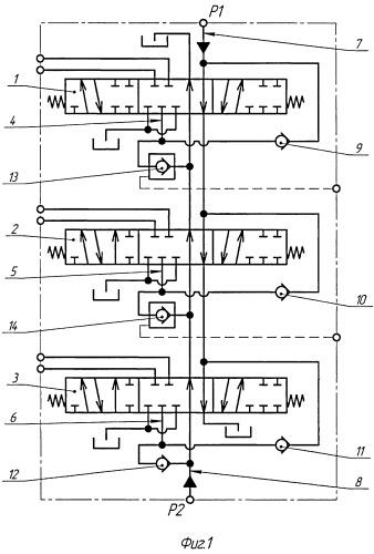 Гидросистема распределения независимых потоков