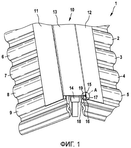 Вентиляционная лента, в частности, для крыш с крутыми скатами
