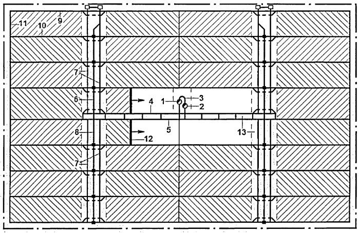 Способ отработки выемочных полей при панельной подготовке
