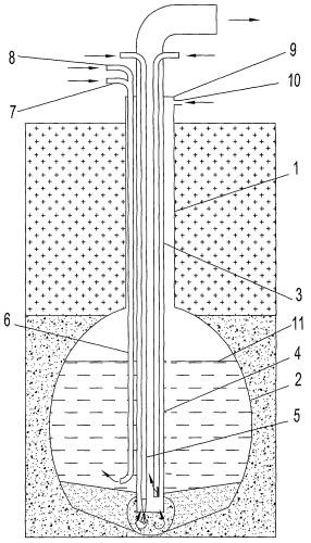 Способ создания подземного резервуара в многолетнемерзлых осадочных породах