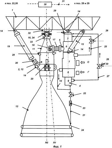 Жидкостный ракетный двигатель и узел подвески камеры сгорания жрд