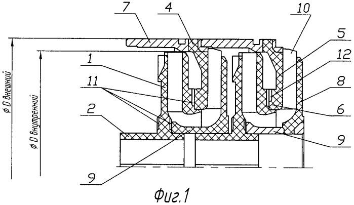 Ступень погружного многоступенчатого центробежного насоса