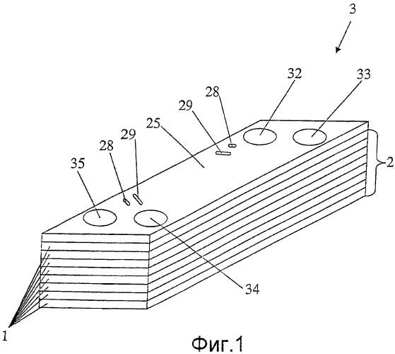 Теплопередающая пластина для пластинчатого теплобменника с равномерным распределением нагрузки в областях каналов