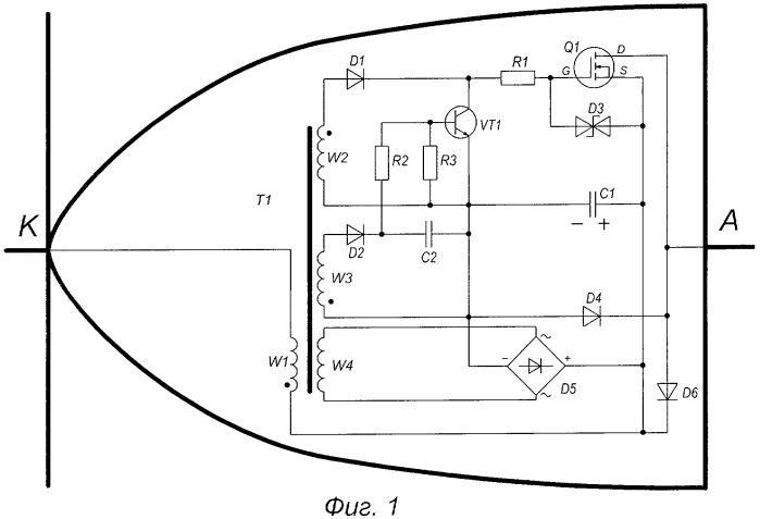 Диод синхронного выпрямления и преобразователь напряжения с его применением