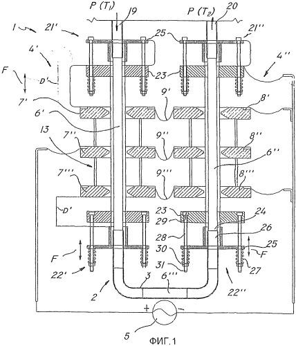 Агрегат для применения переменных электромагнитных полей, в частности, для обработки жидких, пастообразных, полутвердых или гранулированных продуктов, и способ использования такого агрегата, и система, включающая в себя такой агрегат