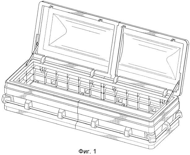 Модульный гроб, изготовленный методом литьевого формования