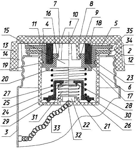 Пробка заливной горловины преимущественно топливного бака транспортного средства