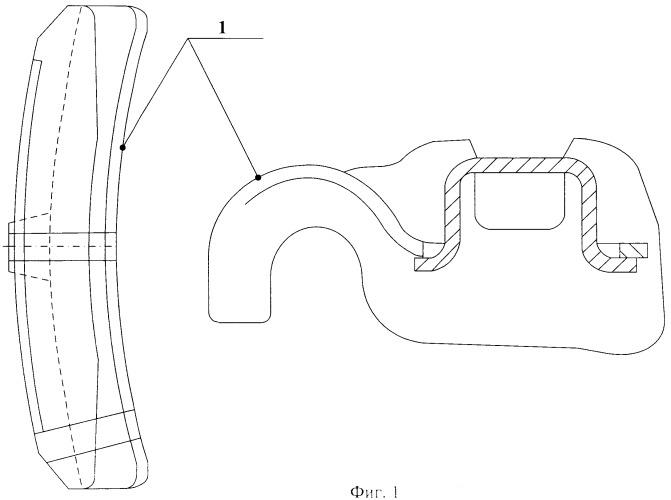 Способ непрерывного контроля толщины тормозных колодок локомотива в эксплуатации и устройство для его осуществления