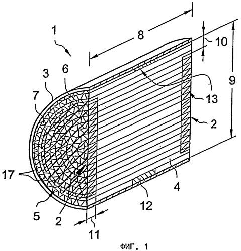Сотовый элемент с подвергнутой пайке твердым припоем торцевой зоной