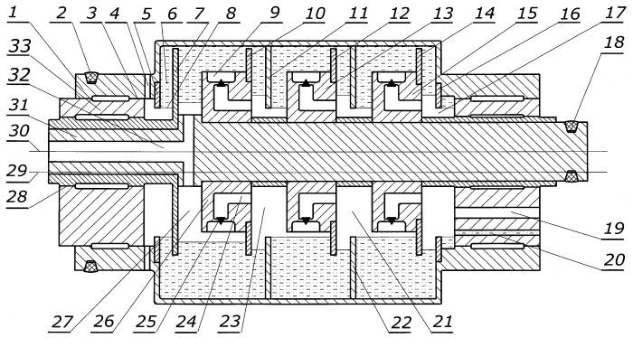Многоступенчатый жидкостно-кольцевой компрессор