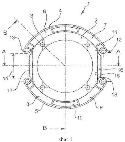 Элемент из эластомера и металла для подшипника из эластомера и металла, в частности, в качестве подшипникового соединения между модулем сцепления и транспортным средством