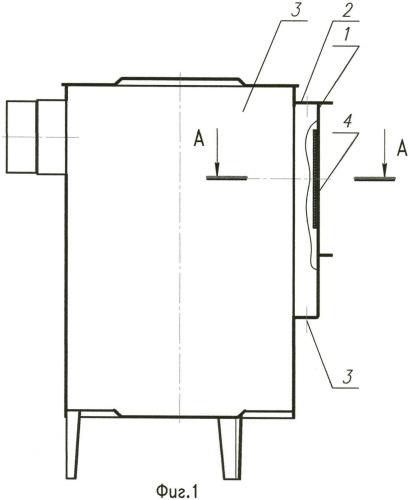 Способ крепления смотрового стекла в дверке
