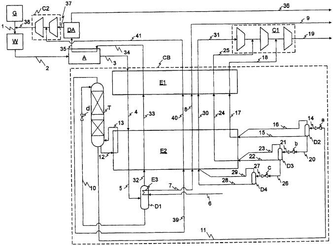 Способ и устройство для выделения продуктов из синтез-газа