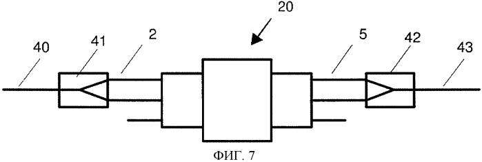 Устройство для передачи оптических сигналов из входного световода в выходной световод (варианты)