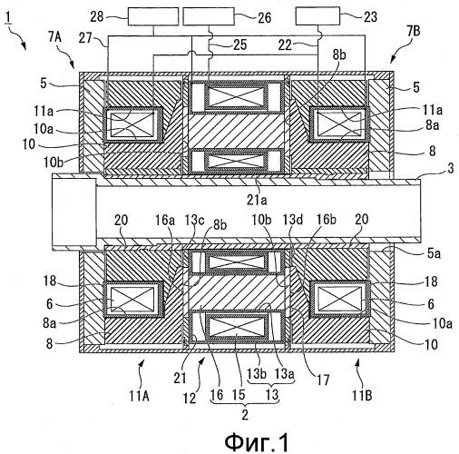 Устройство со сверхпроводящей катушкой и синхронная машина индукторного типа