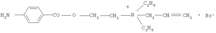 Четвертичное аммониевое производное новокаина, обладающее противоаритмической активностью, и способ его получения