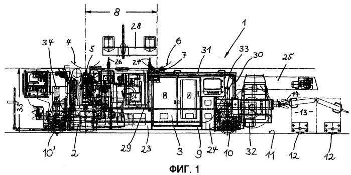 Мобильное устройство для обработки колесных пар
