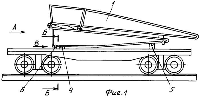 Комплект съемного оборудования для погрузки штурмового колейного моста на железнодорожную платформу