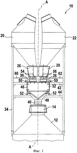 Многобункерная загрузочная установка для шахтной печи