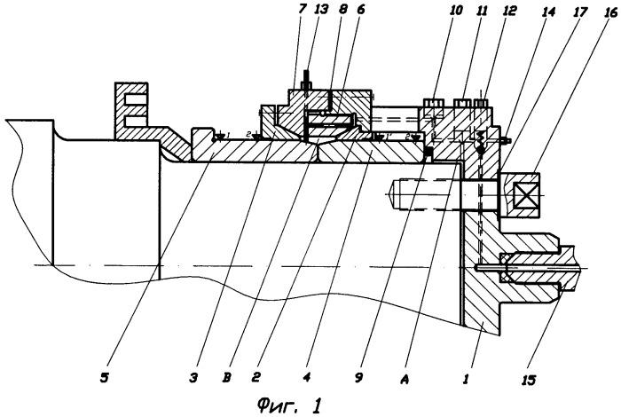 Устройство для неразрушающего контроля прочности напрессовки колец подшипников на шейке оси колесной пары