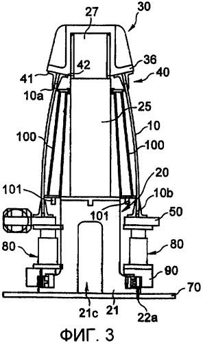 Устройство тестирования конструкции фюзеляжа с продольной и окружной кривизной