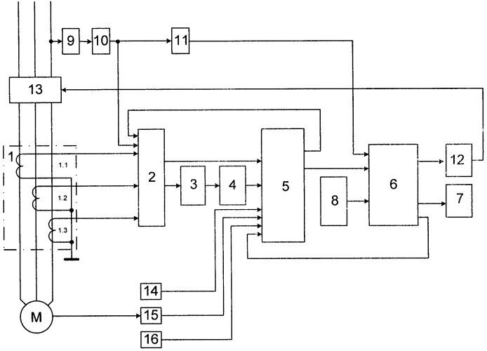 Устройство для защиты трехфазных асинхронных двигателей