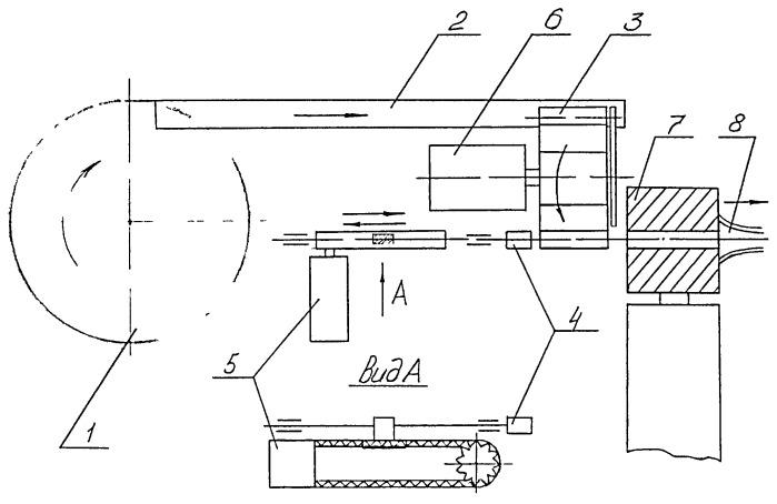 Устройство подачи и установки капельниц в поливном трубопроводе капельного орошения