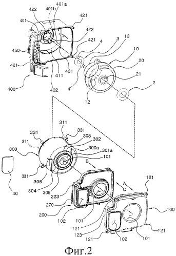 Уплотнительный элемент для вентиляторного блока с двигателем и вентиляторный блок с двигателем