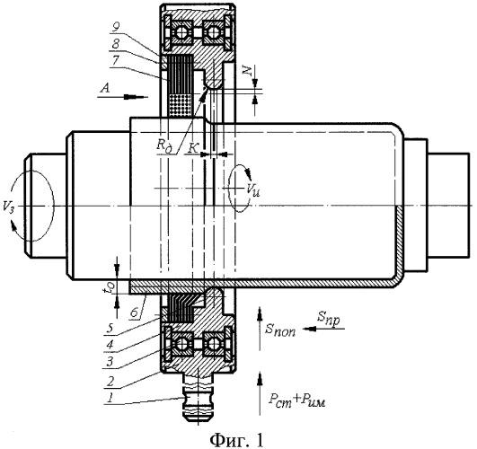 Давильный инструмент для статико-импульсного выглаживания