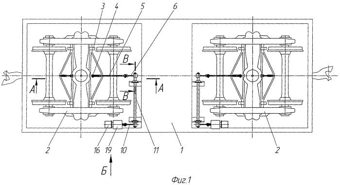 Механическая часть тормозного железнодорожного транспортного средства