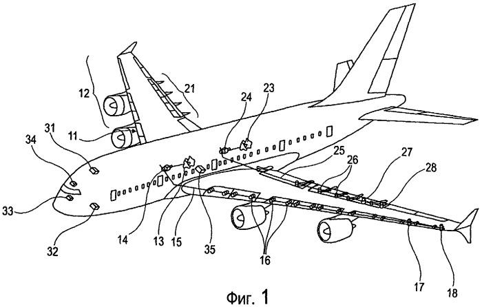 Способ и устройство обеспечения автоматического снижения нагрузки на систему поверхностей, создающих большую подъемную силу, в частности на систему посадочных закрылков летательного аппарата