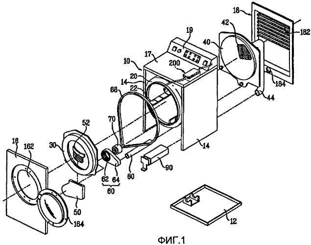 Способ управления сушильной машиной и способ управления комплектом машин для белья