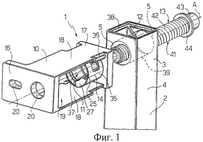 Регулируемое крепежное устройство, в частности, для крепления монтажной конструкции санитарного прибора к стене