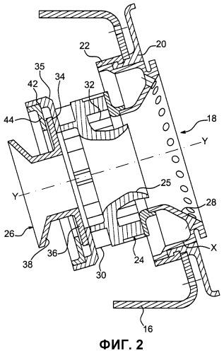 Антиротационная система впрыска для турбореактивного двигателя