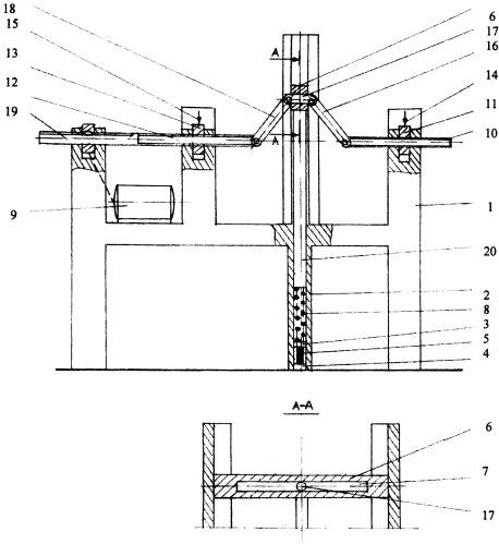 Установка для механических испытаний образцов материалов при циклическом нагружении