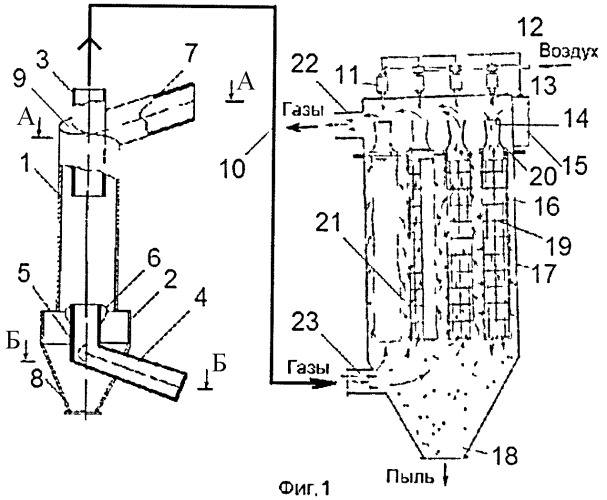 Система аспирации с аппаратом типа взп
